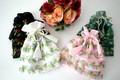 フリル巾着大 花 ブラック/ホワイト/グリーン/ライトピンク