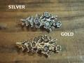 花 バレッタ(SPZ-1546) レディース アクセサリー セレクト ゴールド シルバー ハンドメイド