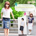 【SALE】【大きいサイズあり】13オンスデニム フロント釦フライタイトスカート【2016春夏新作】