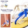 ◆アウトレット/特別価格◆【定価3800円/FREE FISH】BETTA タッセルトングラバーサンダル◆052-01060