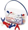 SUNNY Tricolore ランドリーピンチ 30PCS【洗濯ばさみ】【洗濯バサミ】