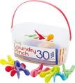 SUNNY RAINBOW ランドリーピンチ 30PCS【洗濯ばさみ】【洗濯バサミ】