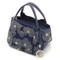 毎日新聞掲載 【SAVOY(サボイ)】デニム地に花柄を合わせたハンドバッグ