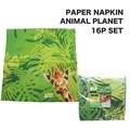 【アニマル雑貨 アメ雑】ペーパーナプキン アニマルプラネット 16Pセット ジャングル 動物