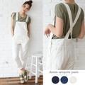 ◆ラフに着られる。[綿100%]デニムサロペット/オーバーオール/パンツ◆422082