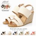 【赤字覚悟!!夏物大放出SALE】◆[8.5cmヒール]ジュートウェッジサンダル/靴◆421461