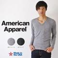 American Apparel V-Neck ロングスリーブ Tシャツ アメリカンアパレル