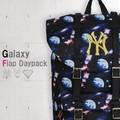 【当社生産 国内ライセンス】ヤンキース PLAYBOY ギャラクシー リュック バッグ 鞄 カバン バラ