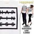 ☆大特価春夏商材☆Happiness ハピネス  ユニセックス Tシャツ<HAPPINESS><ラスト2点>