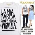 ☆大特価春夏商材☆Happiness ハピネス  ユニセックス Tシャツ<LA MIA BARBA><ラスト1点>