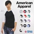 American Apparel ラグラン 7分袖 Tシャツ アメアパ ロンティー ロンT L/SL Tee