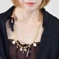 【Coffret Etoile】【ネックレス】パール×ゴールドチェーンネックレス【no.5】 ゴールド リボン