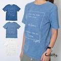 【SALE】初登場★デニムのような加工感を表現。プリントTシャツ