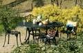 カサベーラ オーバルテーブル 5点セット HOT-7460DGR-5P