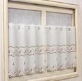 【新作】窓辺を彩る小花刺繍カフェカーテン プチフラワー
