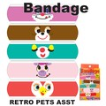 【アメ雑 アメリカ雑貨】Bandage Retoro Pets Asst バンドエイト 絆創膏 アニマル