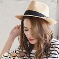 ◆UV紫外線対策。中折れストローハット/麦わら帽子/雑貨/小物/アクセサリー◆420180