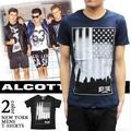 ※2016春夏商品SALE!★大特価★ALCOTT アルコット 星条旗プリント Tシャツ<2カラー><NEW YORK>