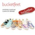 【bucketfeet】バケットフィート#COTTON CANVAS SLIP-ON SHOES スニーカー カラフル