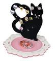 黒猫アクセサリースタンド(ハート) 【 ディアキャッツシリーズ 】