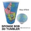 【アメキャラ 海外 輸入】スポンジボブ 3D タンブラー コップ マグ アメコミ キッズ 食器