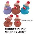 【アメ雑 アメリカ雑貨】ラバーダック モンキー アソート 玩具 おもちゃ 景品 アヒル サル