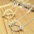 NEW【Angie】スペースコロニー ネックレス!ゴールド&シルバー。シンプル&フェミニン!