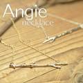 NEW【Angie】樹の枝 モチーフネックレス!ゴールド&シルバー。シンプル&フェミニン!