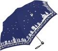 2015AW★耐風傘【月と猫】婦人雨傘★55cm耐風楽ミニ★♪