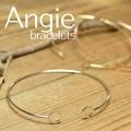 ** NEW【Angie】3色展開 ヘキサゴン バングル/ブレスレット。エレガント&キュート **