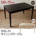 【離島・日時指定不可】引出付き ダイニング テーブル 120 WG/WW