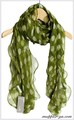 【セール】人気のドット柄★ふわふわ100%シフォンシルクロングスカーフ 0620d