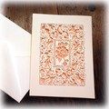 ◆メーカー直送WK◆Greeting Cards Cut Rose CARD (5枚組)