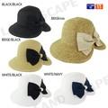 【春夏セール】【2016SS】【UVケア】後ろリボン帽子