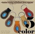 【売れ筋♪】 ネイティブ レザー キーホルダー コンチョ 本革 メンズ レディース  エスニック