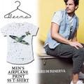 ※2016春夏商品SALE!★大特価★Berna ITALIA ベルーナ 総ペイント Tシャツ<戦闘機><ラスト1点>