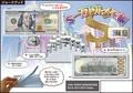 「ジョークグッズ」10000ドル札メモ帳