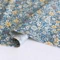 【生地】【布】【コットン】フラワーカーペット(ベージュ×ブルー) デザインファブリック