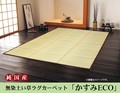 【日本製】純国産 掛川織 無染土い草ラグカーペット 『かすみECO』