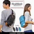 HEALTHKNIT ショルダーバッグ ミニショルダー ボディーバッグ 肩掛け バッグ サコッシュ メンズ レディース