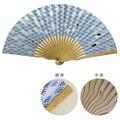 【和雑貨】komon+ 和紙扇子70型25間 青海波くじら