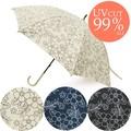 ボタニカルフラワー日傘★UV遮蔽率99%以上!【晴雨兼用日傘 紫外線対策】【在庫一掃セール商品】