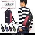 HEALTHKNIT ショルダーバッグ ボディバッグ ボディーバッグ 肩掛け バッグ ナイロン メンズ レディース