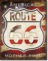 ブリキ看板 R66 America's Road #58569