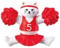 チア猫マグネット【ねこ】【ネコ】【猫】【cat】【キャット】