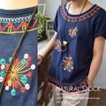 エスニック刺繍Tシャツ