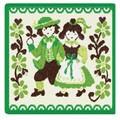 限定品!【新柄】 フェイラータオルハンカチ Traditional Costumes2016 Green