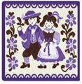 限定品!【新柄】 フェイラータオルハンカチ Traditional Costumes2016 Purple