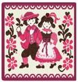 限定品!【新柄】 フェイラータオルハンカチ Traditional Costumes2016 Pink