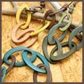 【均一SALE】オーバルウッドの大ぶりネックレス【3色】